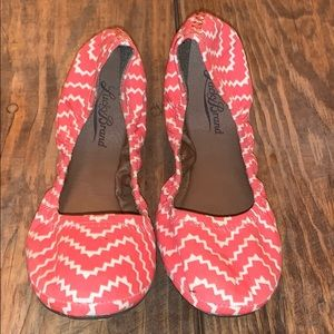"Lucky Brand | Coral Striped ""Erin"" Flats"